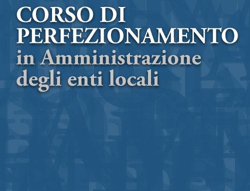 Corso di perfezionamento in Amministrazione degli Enti locali – II edizione