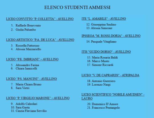 CORSO AVANZATO | ELENCO STUDENTI AMMESSI