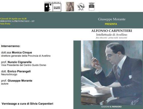 Alfonso Carpentieri intellettuale di Avellino | giovedì 18 aprile 2019