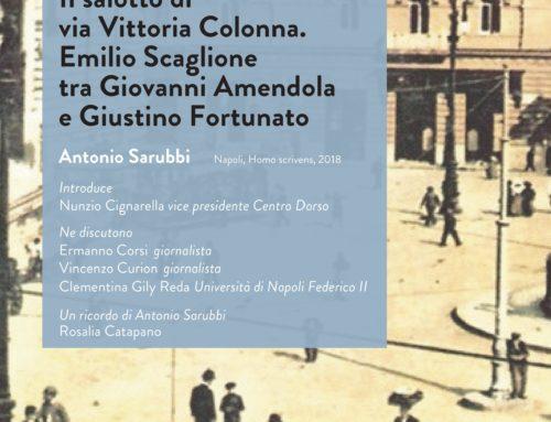 Antonio Sarubbi | Il salotto di Via Vittoria Colonna | giovedì 23 maggio 2019