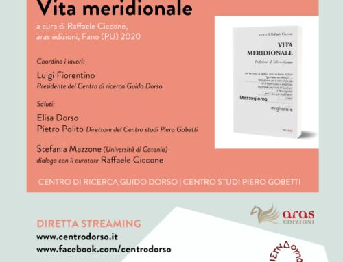 Vita meridionale, a cura di Raffaele Ciccone | venerdì 15 gennaio 2021