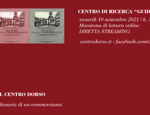 LE LETTURE DEL CENTRO DORSO | A. Muscetta, Memorie di un commerciante | Maratona di lettura online | venerdì 10 settembre 2021
